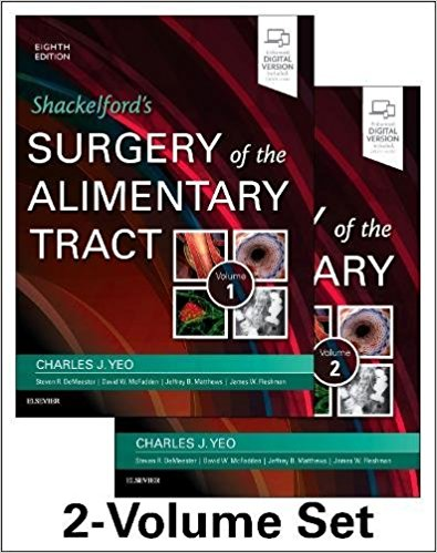 Shackelford's Surgery of the Alimentary Tract, 2 Volume Set, 8e-PDF
