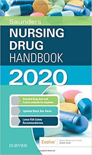 Saunders Nursing Drug Handbook 2020-Original PDF