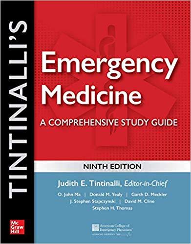 Tintinalli's Emergency Medicine: A Comprehensive Study Guide, 9th edition-Original PDF+Videos