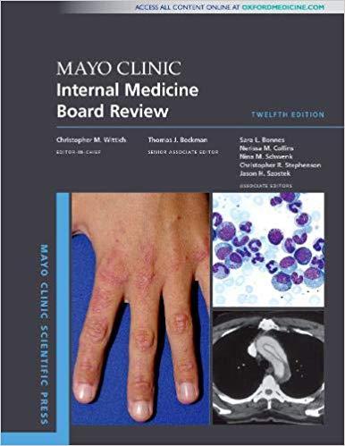 Mayo Clinic Internal Medicine Board Review (Mayo Clinic Scientific Press) 12th Edition-Original PDF