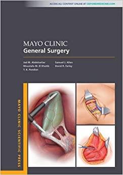 Mayo Clinic General Surgery (MAYO CLINIC SCIENTIFIC PRESS SERIES)-Original PDF