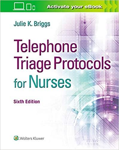 Telephone Triage Protocols for Nurses 6th Edition-EPUB+Converted PDF