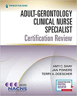 Adult-Gerontology Clinical Nurse Specialist Certification Review-Original PDF