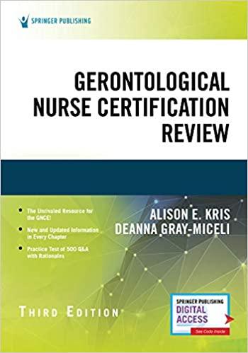 Gerontological Nurse Certification Review, Third Edition-Original PDF