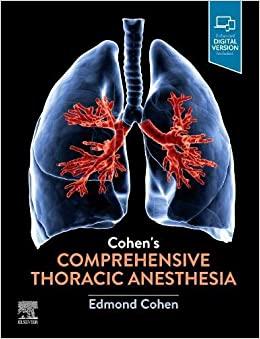 Cohen's Comprehensive Thoracic Anesthesia-Original PDF