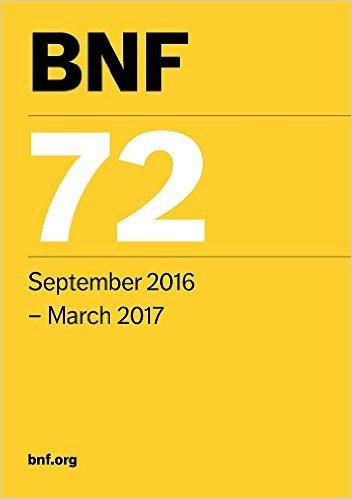 BNF 72 (British National Formulary September 2016-March 2017)-Original PDF