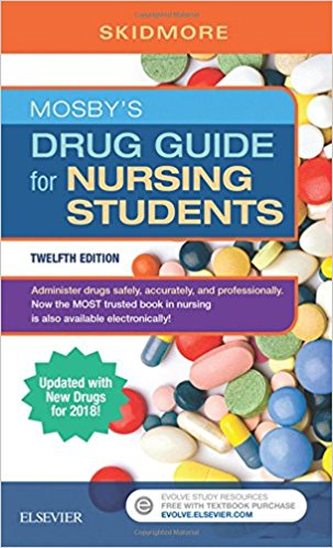 Mosby's Drug Guide for Nursing Students with 2018 Update, 12e-Original PDF