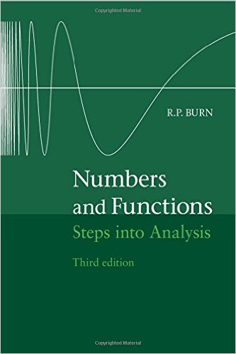 Numbers and Functions: Steps into Analysis 3rd Edition - Original PDF